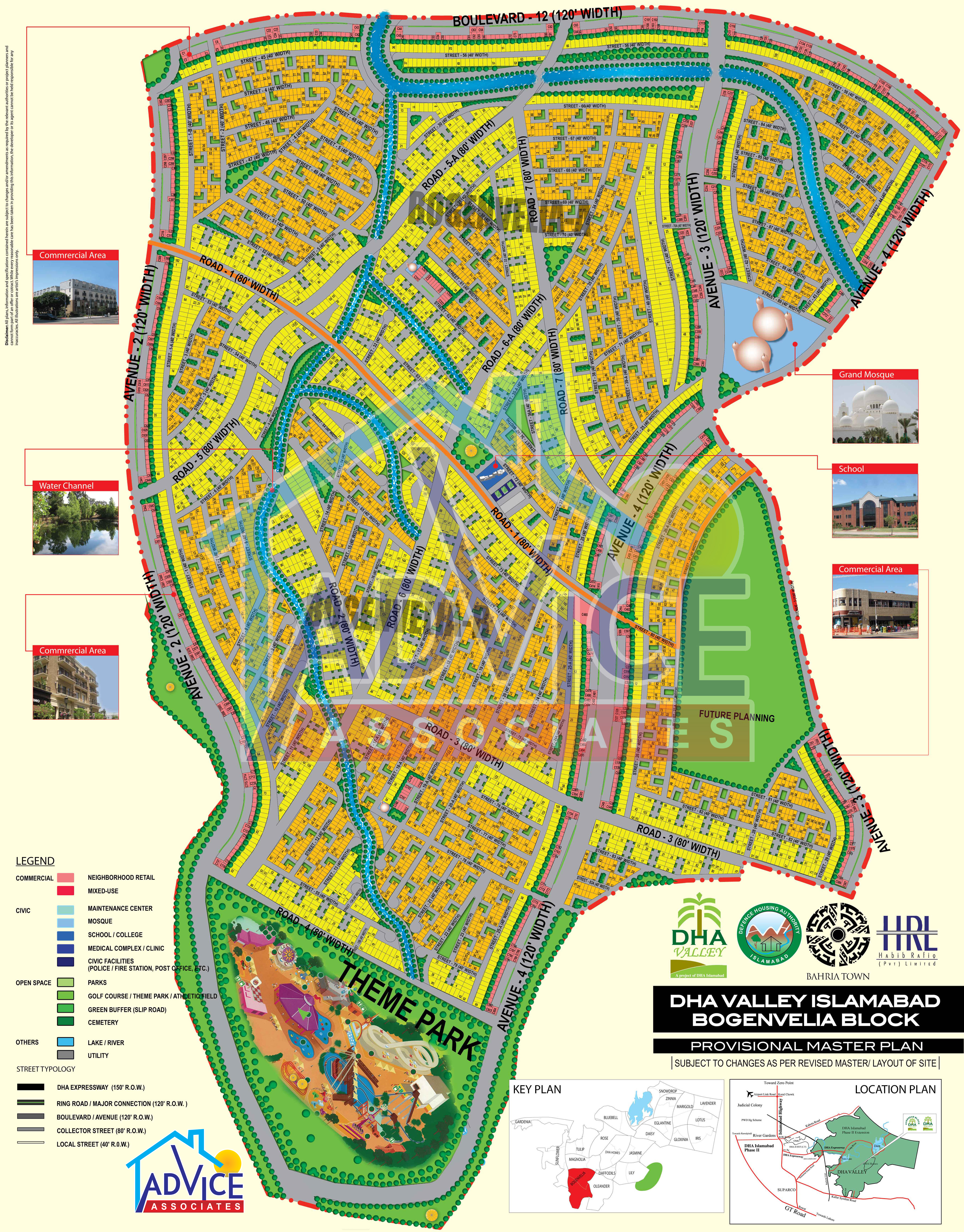 DHA Valley Islamabad Maps