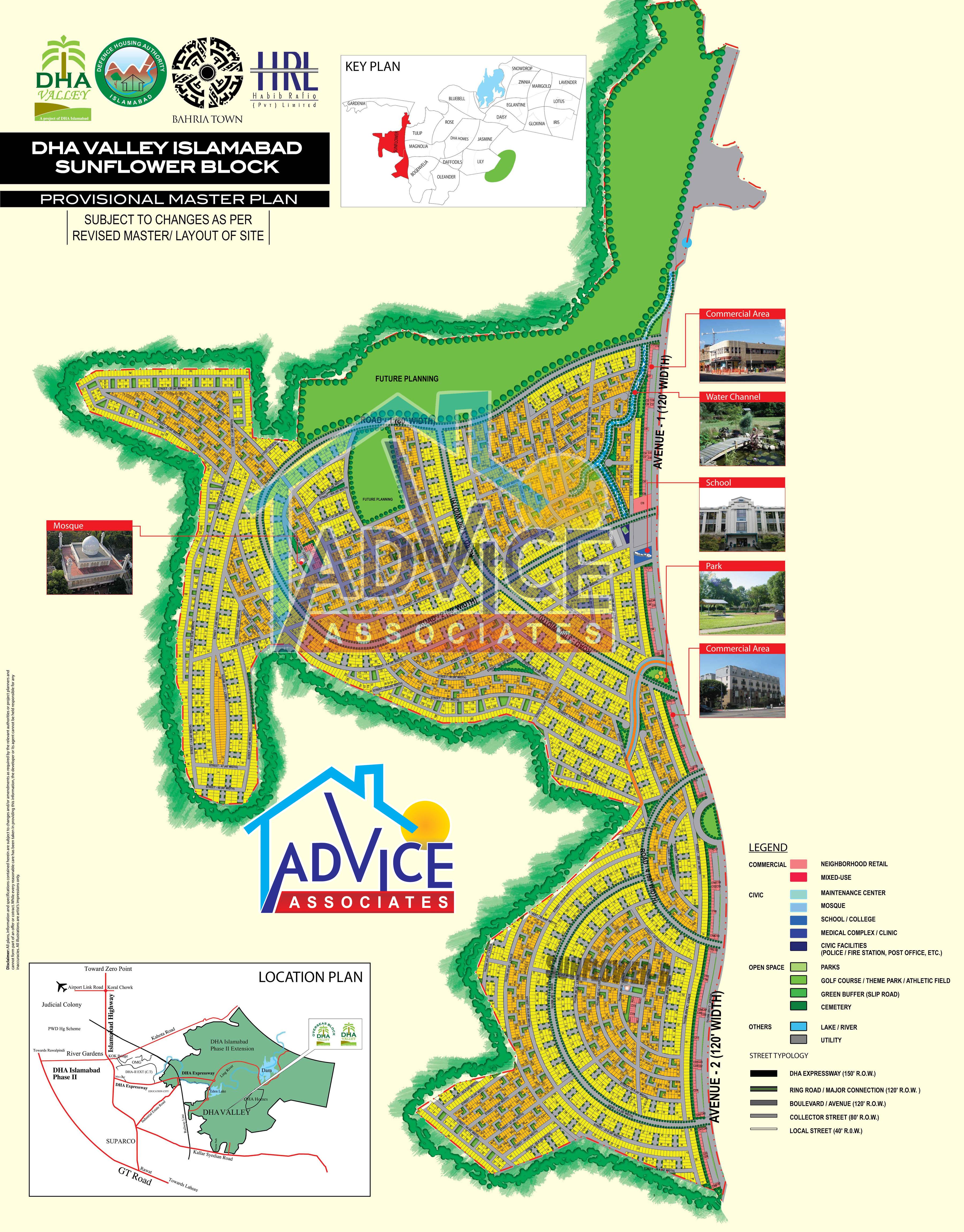 DHA Valley Islamabad Maps